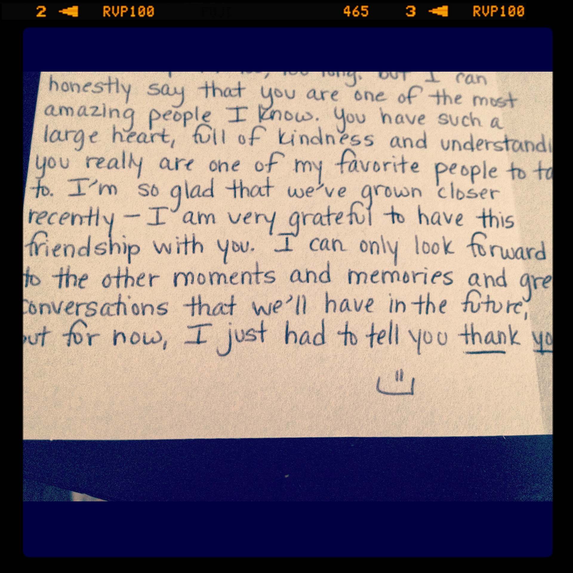 July 6: a birthday card to one of my best friends.